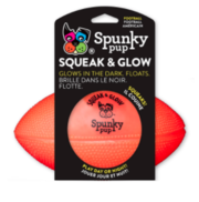 Buy Spunky Pup Squeak and Glow Football 14cm for Dogs  Pet Toy  Online