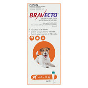 Buy Bravecto Spot On For Small Dogs 4.5-10 Kg Orange | DiscountPetCare