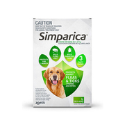 Buy Simparica Chewables for Large Dogs 20.1 - 40kg Green Pack