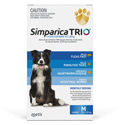 Buy Simparica Trio for Medium Dogs 10.1 - 20kg Blue Pack |Flea,  Tick