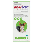 Buy Bravecto Spot On For Medium Dogs 10-20 Kg Green | DiscountPetCare