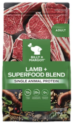 Buy Billy & Margot Adult Lamb and Superfood Dog Food Online-VetSupply