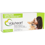 Buy Valuheart Heartworm for Medium Dogs 11 to 20kg Green Pack