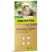 Buy Drontal Wormer For Small Cats 4kg |Pet Worm treatment | VetSupply