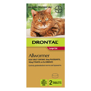 Buy Drontal Wormer For Large Cats 6kg |Pet Worm treatment | VetSupply