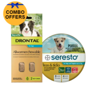 Buy Seresto Collar + Drontal Allwormer for Dogs up to 8kg |Pets