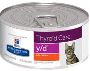 Buy Hills Prescription Diet Feline y/d Thyroid Care Chicken Canned Wet