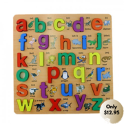 Buy Wooden Alphabet Educational kids Toy Puzzle – Lower Case