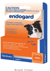 Buy Endogard Wormers for Large Dogs 20kg Orange Pack |Pet Worm