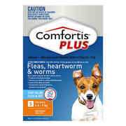 Buy Comfortis Plus Chewables for Small Dogs 4.6 to 9kg Orange Pack