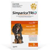 Simparica TRIO For Small Dogs 5.1 - 10Kg Orange | DiscountPetCare