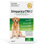 Simparica TRIO For Large Dogs 20.1 - 40Kg Green | DiscountPetCare