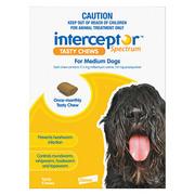 Buy Interceptor Spectrum Tasty Chews For Medium Dogs 11 to 22kg Yellow