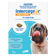 Buy Interceptor Spectrum Tasty Chews For Large Dogs 22 to 45kg Blue