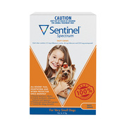 Buy Sentinel Spectrum Chews For Very Small Dogs Up to 4kg Orange