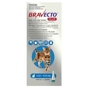 Buy Bravecto Plus for Medium Cats 2.8 to 6.25kg Blue