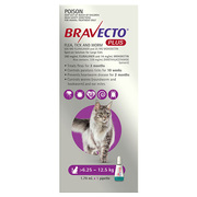 Buy Bravecto Plus for Large Cats 6.25 to 12.5kg Purple|Flea,  Ticks