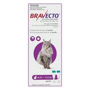 Buy Bravecto Spot On for Large Cats 6.25 to 12.5kg Purple|Flea,  Ticks