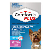 Comfortis Plus Pink For Extra Small Dogs 2.3-4.5Kg 6 Pack