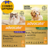 Buy Advocate Combo Pack For Dogs Upto 4 kg and Cats Over 4kg Pack Pet