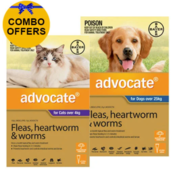 Buy Advocate Combo Pack For Dogs Over 25 kg and Cats Over 4kg Pack Pet