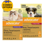 Buy Advocate Combo Pack For Dogs 10 - 25 kg and Cats Over 4kg Pack