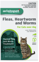 Buy Aristopet Spot Treatment for Kitten and Cat Over 4kg  Pets Worm