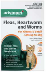 Buy Aristopet Spot Treatment for Kitten and Cat Upto 4kg  Pets Worm