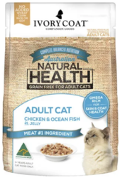 Buy Ivory Coat Cat Adult Grain Free Chicken and Ocean Fish in Jelly
