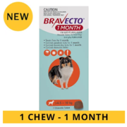 Buy Bravecto 1-month chews for dogs Online-VetSupply